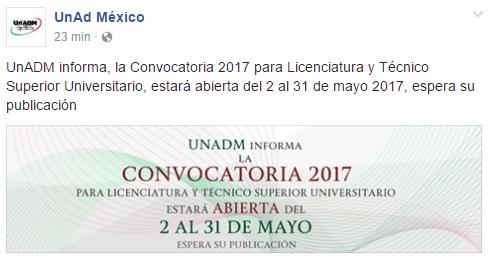 convocatoria de las licenciaturas en linea sep 2017