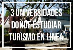 universidades publicas con lic turismo en linea